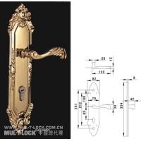 防盗锁/房间锁/执手锁/纯铜锻造/带面板尺寸图