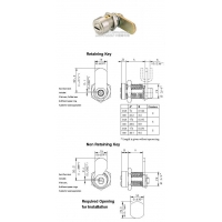 防盗锁/凸轮锁/机箱锁