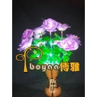LED玫瑰之约花瓶灯-0.6米-CP9B-紫玫瑰
