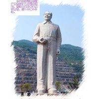 汉白玉石雕毛主席站坐半身像;寿星白求恩孔子校园雕塑人物雕像