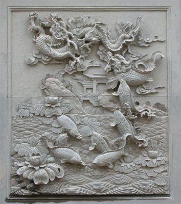 龙浮雕大理石浮雕图片