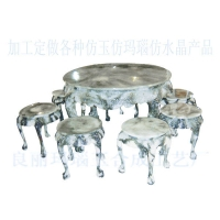 多彩玉石大圆桌