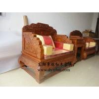 厂家直销东阳红木古典家具非洲花梨荷花宝座沙发供应商