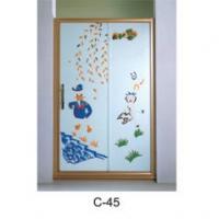 彩晶花纹淋浴房