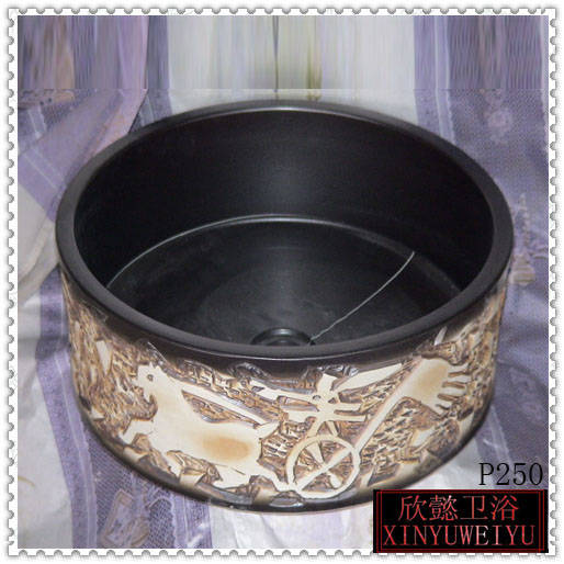 陶瓷艺术盆 手绘盆