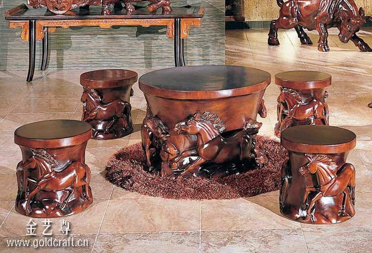 广东木雕家具厂-热销木雕家具品牌-风水吉祥物-家居风水