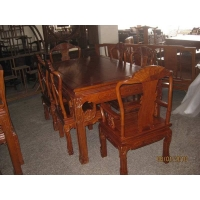 红木家具象头餐台,红木餐桌价格