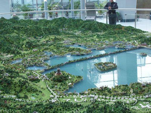 南京雕塑-景观雕塑-园林景观- 西湖沙盘