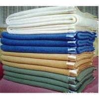 蓝色/白色/土黄/草绿 宾馆毛毯