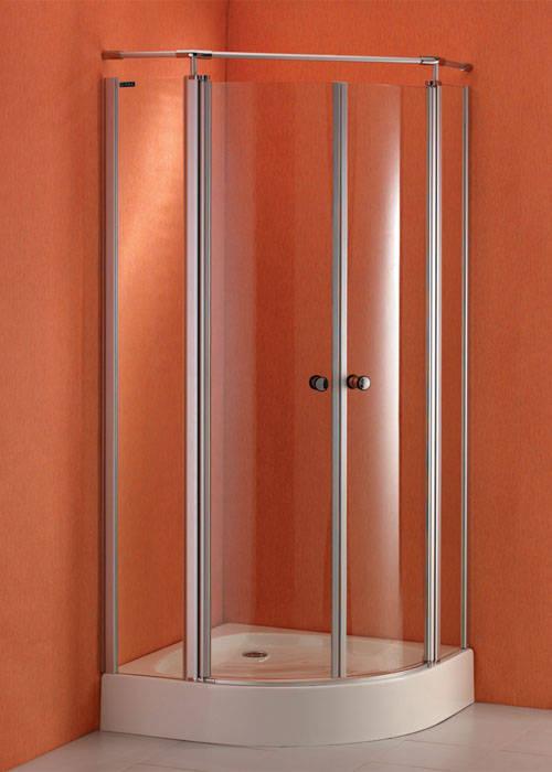 圆弧型平开门淋浴房