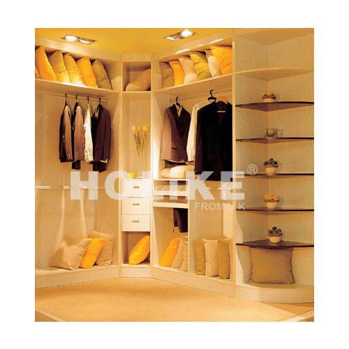 好莱客整体衣柜 衣帽间及组合柜体 L型转角衣帽间