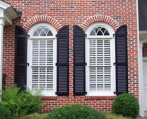 别墅室外装饰实木百叶窗 欧式木窗 仿古木窗
