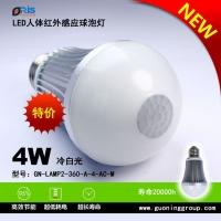 LED感应球泡灯4瓦平头