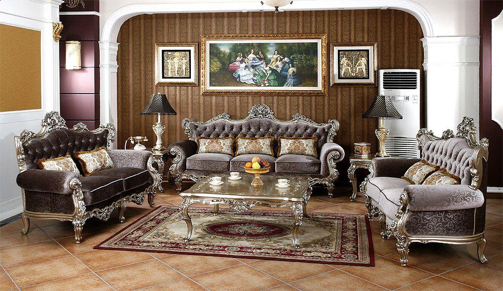 贵族宫廷奢华经典法式实木客厅沙发 茶几