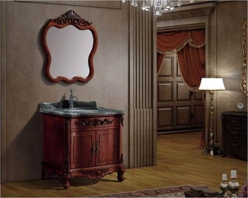 古典实木浴室柜产品图片