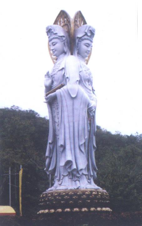 曲阳博宝石雕工艺品莲花底座带背光坐佛雕像