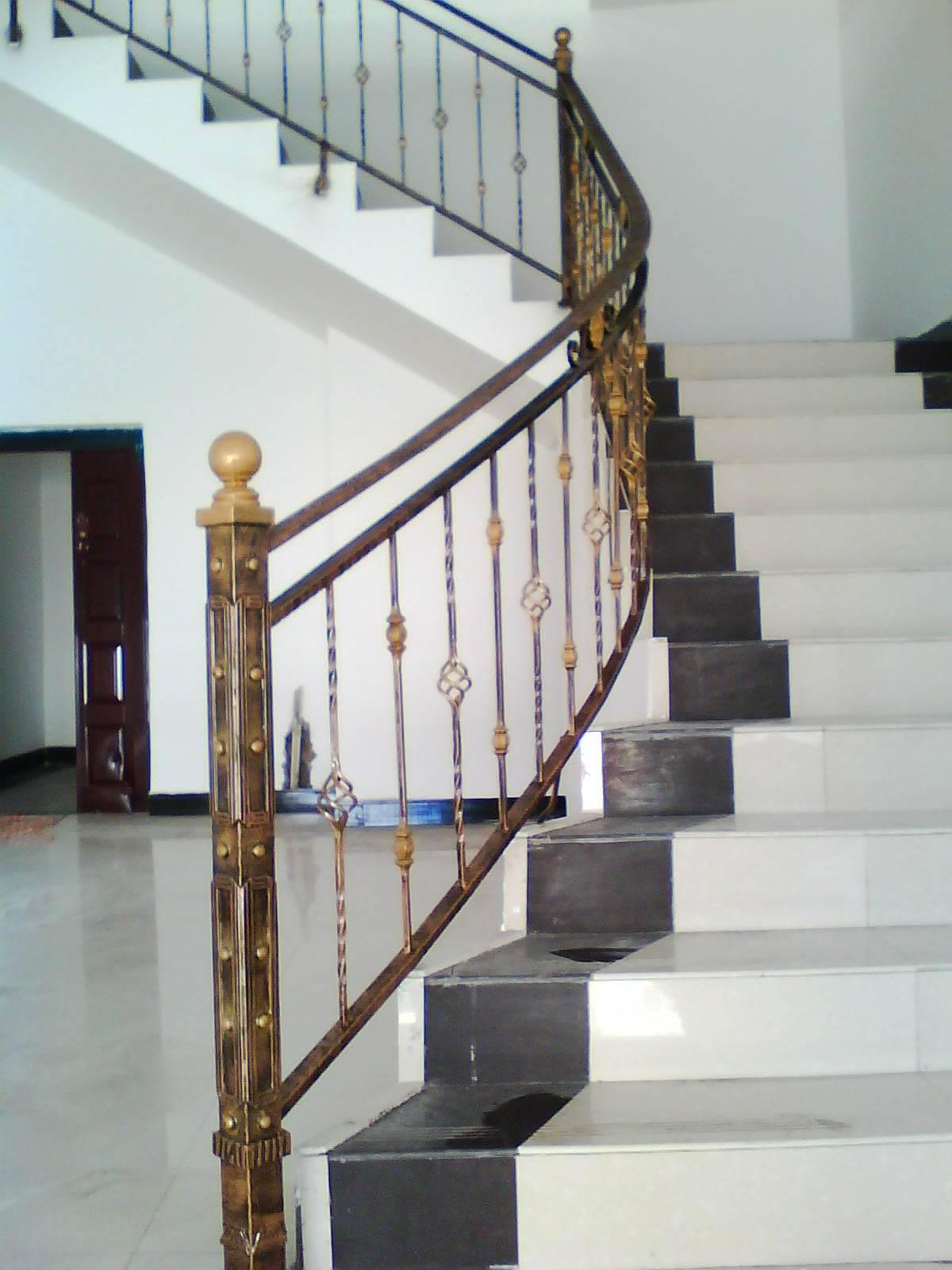 欧式石材室内楼梯扶手