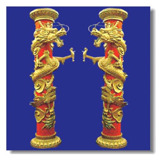 必利福GRC构件—罗马柱—龙柱