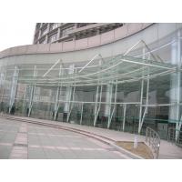 郑州6毫米+1.52PVB+6毫米车库雨棚弯钢夹胶玻璃