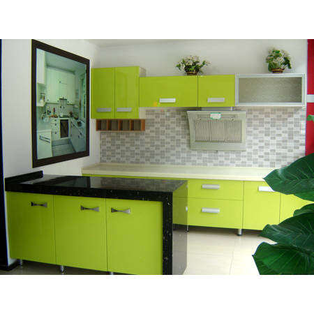 橱柜门绿色效果图大全