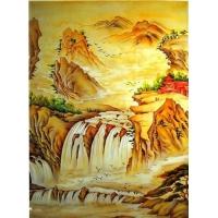 SBJ-S050 山水瀑布|陕西西安饰家玻璃