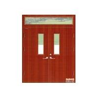 木质双扇带玻璃带亮窗防火门