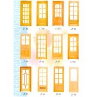 蓝天木门-玻璃门系列-LT85-LT96