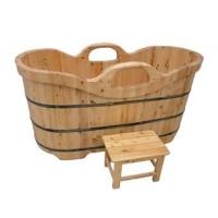 浴桶 木桶 香柏木浴桶 木扶手双边对称沐浴桶