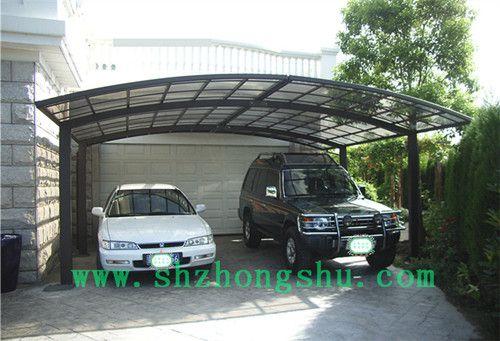 固定停车篷固定遮阳棚铝合金停车棚工厂直销