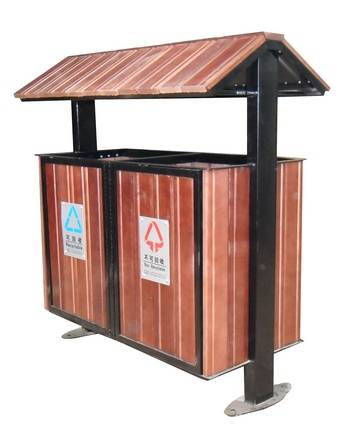 钢木结构分类垃圾桶