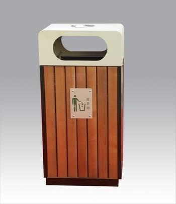 钢木单结构垃圾桶