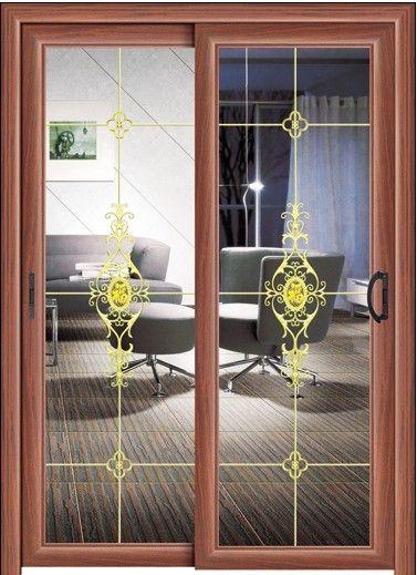 客厅与阳台装防盗推拉门效果图