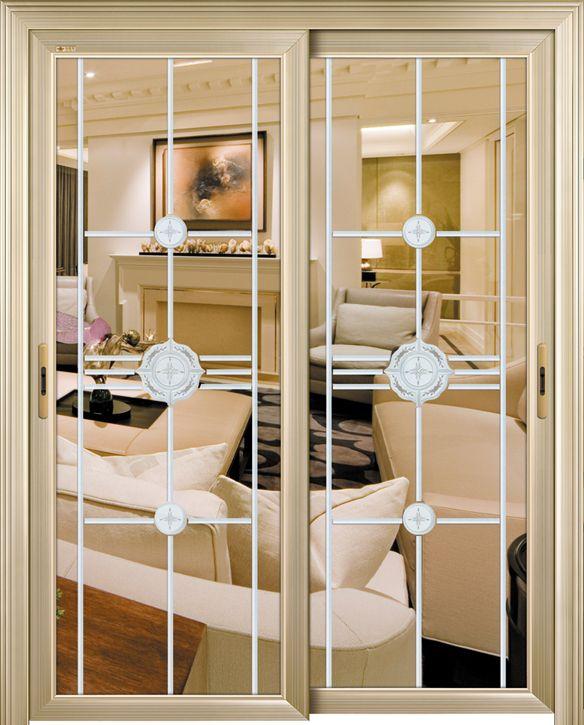 欧式风格厨房吊滑门装修效果图