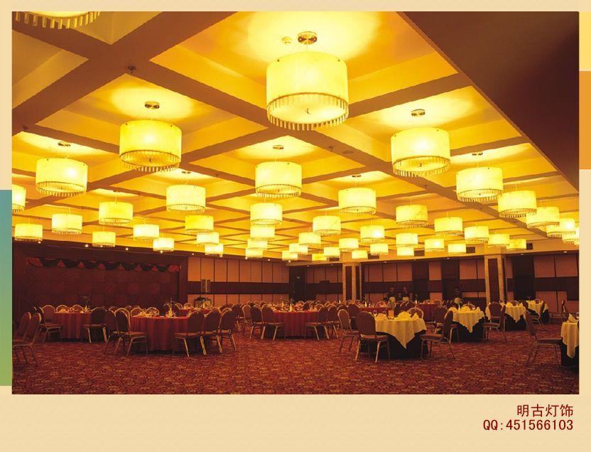 酒店羊皮吊燈、酒店羊皮壁燈、酒店非標羊皮燈、羊皮工程燈-- 明古燈飾
