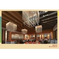 酒店餐厅拉丝水晶吊灯、酒店非标布艺工程吊灯