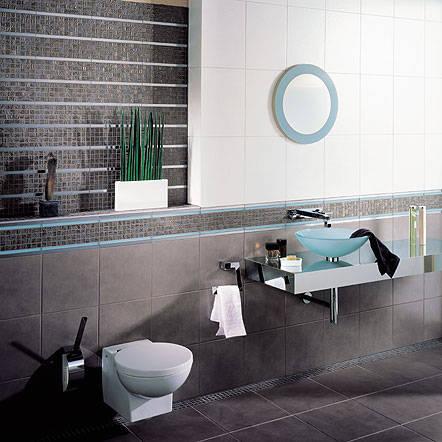 金属马赛克在浴室的铺贴效果图