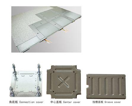 线槽网络地板系列 扣槽式 博尼防静电地板苏皖总经销产品图片,线槽