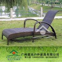 仿藤沙灘椅、花園戶外休閑藤藝仿藤家具、仿藤沙灘床/躺椅