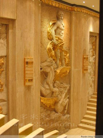 上海砂岩雕塑-砂岩室内装饰浮雕