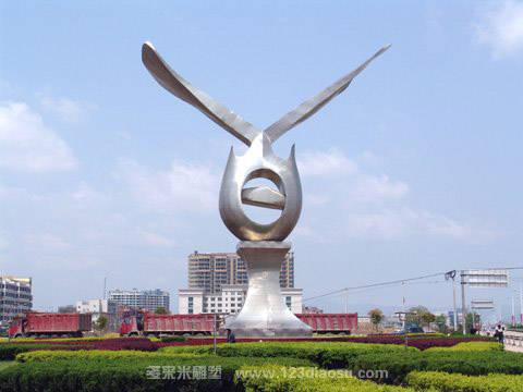 上海城市雕塑 异形不锈钢雕塑
