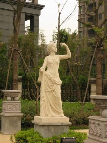 园林景观雕塑 欧式少女雕塑