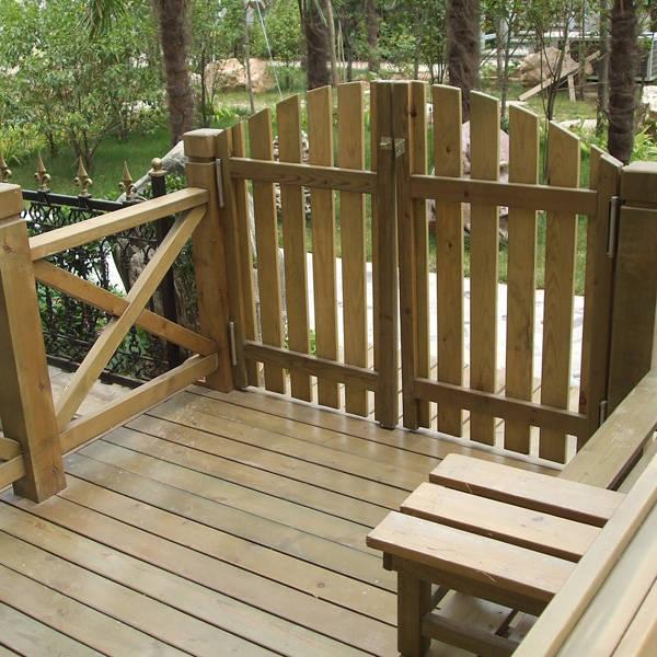 扶手系列丨陕西西安防腐木丨园林景观
