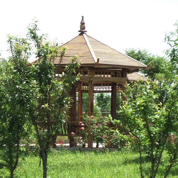 休闲庭系列丨陕西西安防腐木丨园林景观