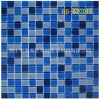 HG42010长期供应4mm混色可定制玻璃马赛克|