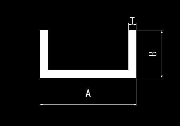 上海铝槽钢规格