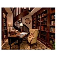 成都普斯顿定制家具-实木书柜