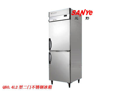 二门不锈钢冰箱 四六门冰柜冷柜 厨房冷柜 酒店厨房冷冻柜 挂