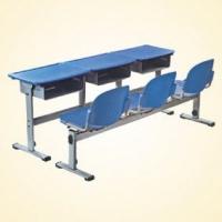 塑料课桌椅 学生课桌椅 多人位课桌椅