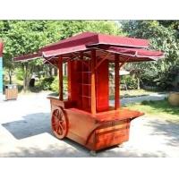 厂家直销可移动木制售货车,户外售卖车