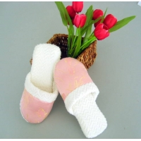 竹纤维绸缎拖鞋
